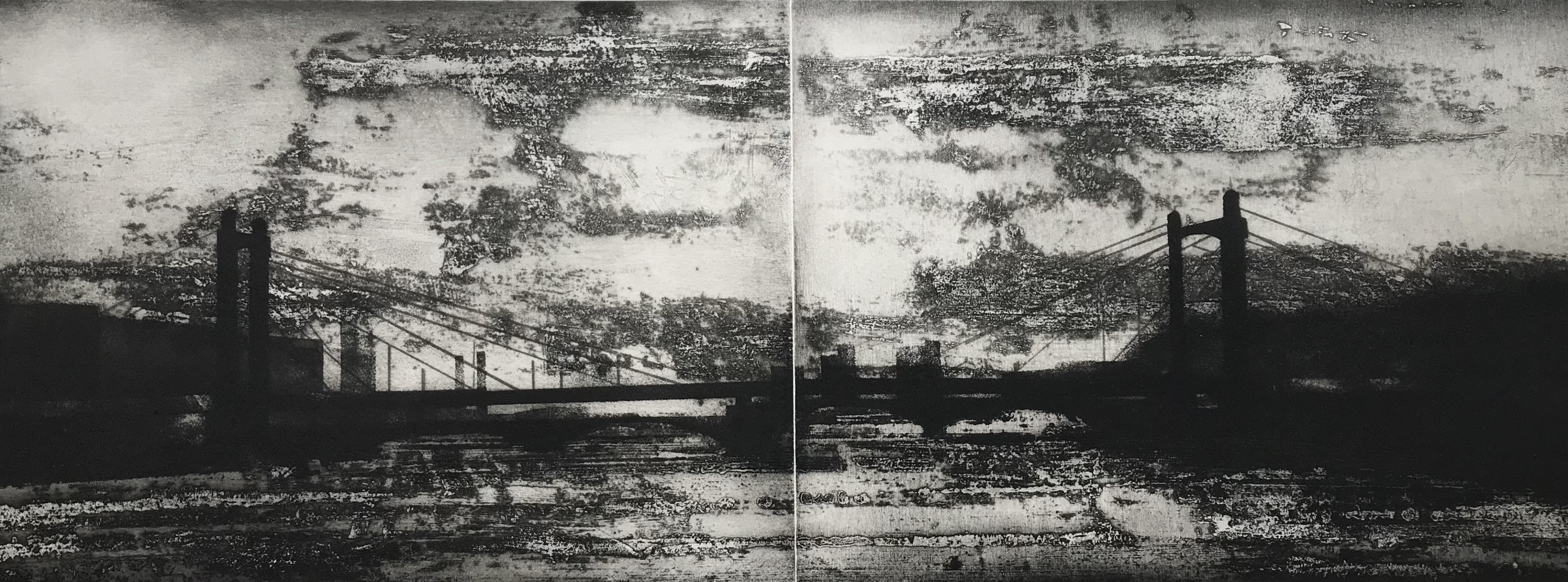 The Thames. Chelsea Reach (diptych)